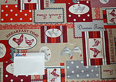 Textil - Látka Koko červená - 6783452_
