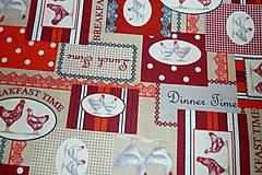 Textil - Látka Koko červená - 6783473_