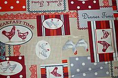 Textil - Látka Koko červená - 6783478_