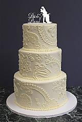 Dekorácie - Dekorácia na svadobnú tortu Pán & Pani - 6784009_