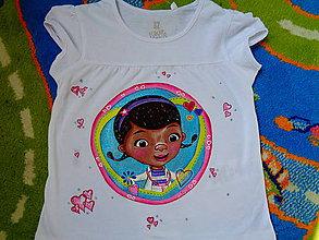 Detské oblečenie - maľované tričko - 6781379_