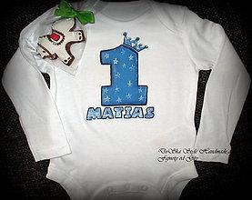 Detské oblečenie - Narodeninové pre princa - 6783972_