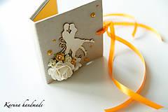 Darčeky pre svadobčanov - Pohľadnica/Svadobná gratulačná karta /Obálka na peniaze - 6781851_