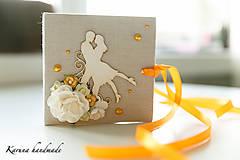 Darčeky pre svadobčanov - Pohľadnica/Svadobná gratulačná karta /Obálka na peniaze - 6781852_