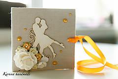 Darčeky pre svadobčanov - Pohľadnica/Svadobná gratulačná karta /Obálka na peniaze - 6781853_