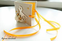 Darčeky pre svadobčanov - Pohľadnica/Svadobná gratulačná karta /Obálka na peniaze - 6781857_