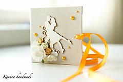Darčeky pre svadobčanov - Pohľadnica/Svadobná gratulačná karta /Obálka na peniaze - 6781860_