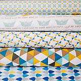 Textil - modré kvapky, 100 % bavlna, šírka 160 cm, cena za 0,5 m - 6782481_