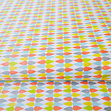 Textil - oranžové kvapky, 100 % bavlna, šírka 160 cm, cena za 0,5 m - 6782485_
