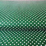 Textil - tmavozelené bodky; 100 % bavlna, šírka 140 cm, cena za 0,5 m - 6782528_
