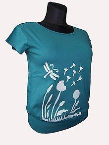 Tričká - maľované tričko s patentom - 6781331_