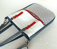 Veľké tašky - Basic - Zipp - Šedá s bodkami - 6781234_