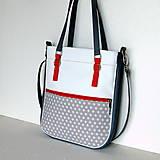 Veľké tašky - Basic - Zipp - Šedá s bodkami - 6781238_