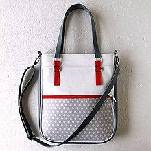 Veľké tašky - Basic - Zipp - Šedá s bodkami - 6781235_