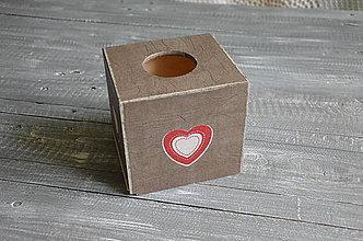 """Krabičky - box na vreckovky """"Srdiečko"""" - 6783218_"""