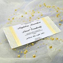 Papiernictvo - Elegantné svadobné oznámenie - 6782058_