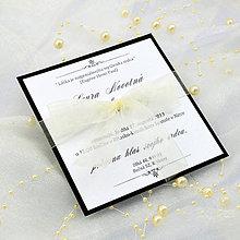 Papiernictvo - Elegantné svadobné oznámenie - 6782224_