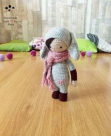 Hračky - Bábika - zajko (sivo-bordová) - 6784838_