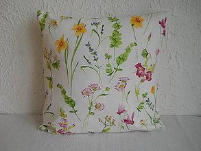 Úžitkový textil - Návlek na vankúš - Jarné kvety - 6785869_