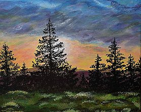 Obrazy - Maľovaný obraz-Pod mračnami - 6786553_