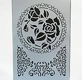 - Šablóna Stamperia - 20x30 cm - ruža, ornament, filigrán - 6785941_