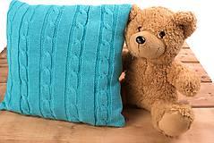 """Textil - Tyrkysová detská deka, ,,Vrkoč"""", OEKO-TEX®, 80x80 - 6785469_"""