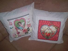 Úžitkový textil - Vankúš Anjel v srdci - 6785709_