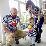 Tričká - Rodinné tričká (Prúžkovaná líška) - 6784530_
