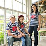 Tričká - Rodinné tričká (Prúžkovaná líška červená) - 6784537_