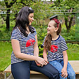 Tričká - Rodinné tričká (Prúžkovaná líška červená) - 6784644_