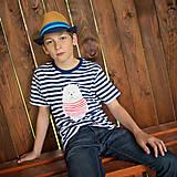 Tričká - Detské tričká (Macko pruhovaný) - 6784722_