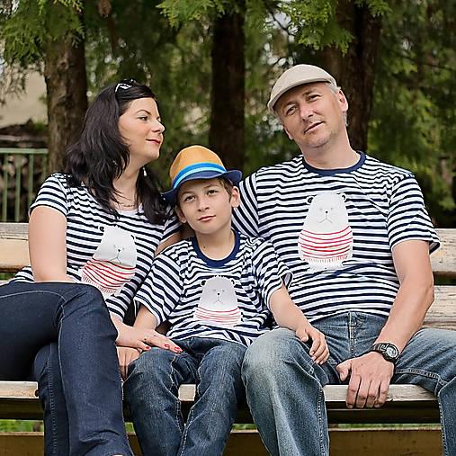 5f63d5d0d0 Rodinné tričká (Macko pruhovaný)   Ammyla - SAShE.sk - Handmade Tričká