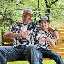Tričká - Rodinné tričká (Macko pruhovaný) - 6784618_