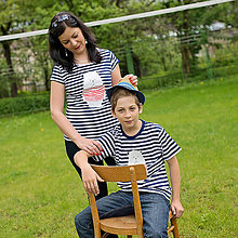 Tričká - Rodinné tričká (Macko pruhovaný) - 6784665_