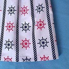 Detské oblečenie - sukňa detská námornícka s kormidlami - 6786773_