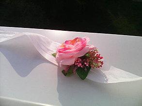 """Náramky - Kvetinový náramok """"láska je rosééé..."""" - 6784703_"""