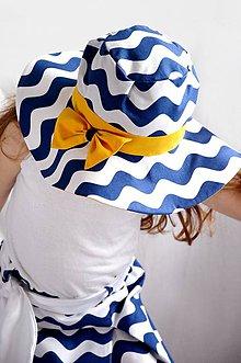 Detské čiapky - Klobúk vlny&yellow - 6784642_