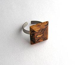 Prstene - Špaltovaná buková hrča - štvorček - 6785045_