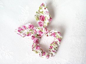 Ozdoby do vlasov - Mini scrunchie with flowers - 6789860_