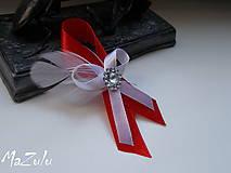 Pierka - červenoBiele svadobné pierko - 6788683_
