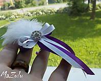 Pierka - svadobné pierko vo fialovom - 6788800_