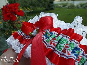 Bielizeň/Plavky - Folklórny svadobný podväzok VI. - 6789476_