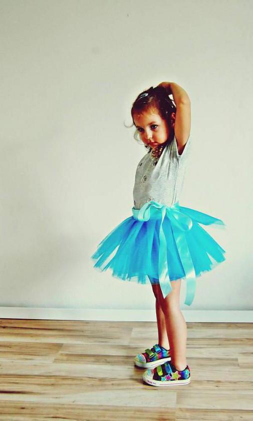 7eaf3a82b0bd Zavinovacia sukňa tyrkysová   TinyThea - SAShE.sk - Handmade Detské ...