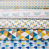 Textil - lodičky; 100 % bavlna, šírka 160 cm, cena za 0,5 m - 6788230_