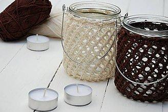 Svietidlá a sviečky - Svietniky (prírodná/hnedá) - 6788605_