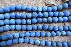 Minerály - Lapis Lazuli matný 8mm - 6787697_