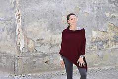 Iné oblečenie - Pončo...bordó - 6789405_