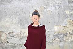 Iné oblečenie - Pončo...bordó - 6789406_