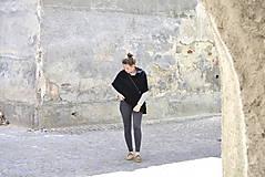 Iné oblečenie - Pončá...čierna - 6789421_