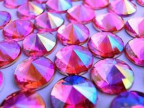 Galantéria - Ozdobné kamienky 10 mm - AB ružová - 6790409_